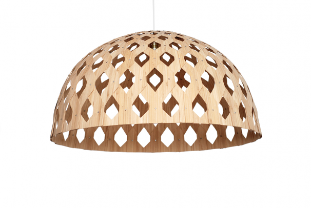 Bamboo Light Hexagonal Dome 80