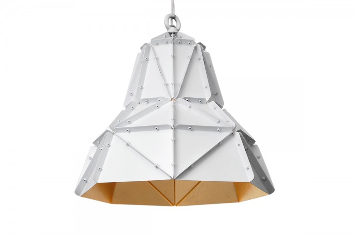 Octagon Fat Gold Faceted Light