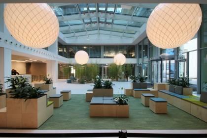 Adamlamp Suspended Extra Large Ball 200 Light Balance Hall lobby Budapest