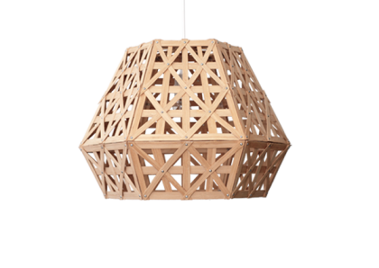 Bamboo Dense Hexagon Angular 50 Light