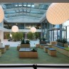 Adamlamp Suspended Extra Large Ball 200 Light Balance Hall lobby Budapest