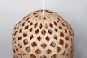 Bamboo Hexagonal Beehive Pendant Light Off top