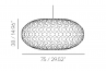 Adamlamp Bamboo Light Hexagonal Ellipse 75
