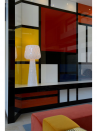 Diamond Grid Table Light 100 in De Stijl mood apartment