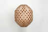 Bamboo Hexagonal Beehive Pendant Light Off