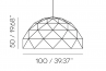 Sun Chandelier 100 sizes, height, diameter,