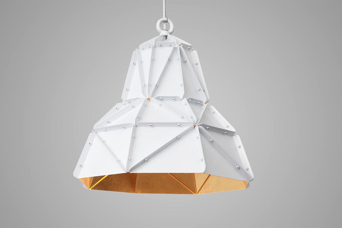 Bamboo cloud chandelieramlamp sun chandelier gold plated adamlamp octagon fat gold facteted pendant light aloadofball Images