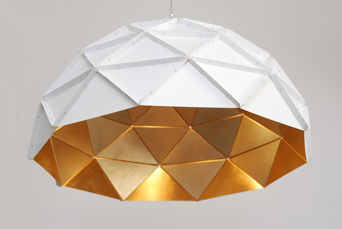 Adamlamp sun chandelier gold plated stainless steel arubaitofo Image collections